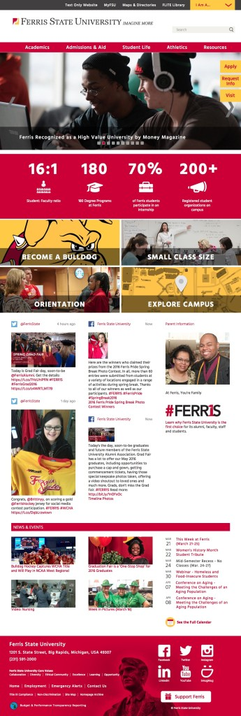 Ferris State University: Michigan College Campuses in Big Rapids MI, Grand Rapids MI, Off Campus Locations Across Michigan - Ferris State University